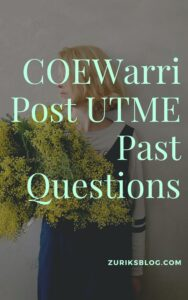 COEWarri Post UTME Past Questions