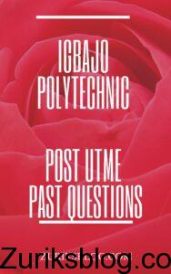 Igbajo Polytechnic Post UTME Past Questions