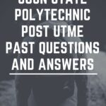 Ogun State Polytechnic Post UTME Past Questions And Answers