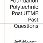 Sure Foundation Polytechnic Post UTME Past Questions And Answers