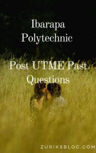 Ibarapa Polytechnic Post UTME Past Questions