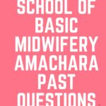 School Of Basic Midwifery Amachara Past Questions