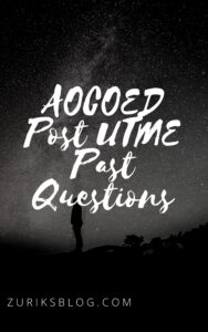 AOCOED Post UTME Past Questions