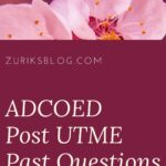 Ansar-Ud-Deen College Of Education Post UTME Past Questions