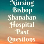 School Of Nursing Bishop Shanahan Hospital Past Questions