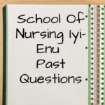 School Of Nursing Iyi-Enu Past Questions Free Download