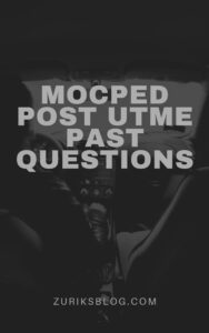 MOCPED Post UTME Past Questions
