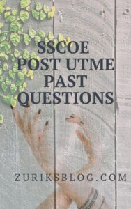 SSCOE Post UTME Past Questions
