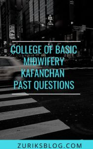College Of Basic Midwifery Kafanchan Past Questions