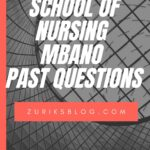 School Of Nursing Mbano Past Questions Free Download