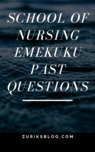 School Of Nursing Emekuku Past Questions