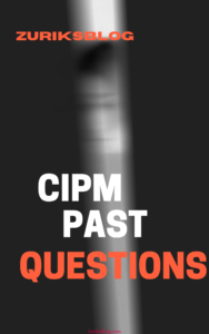 CIPM Past Questions And Answers